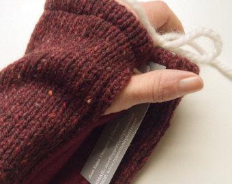 fleece wrist warmers.