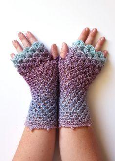 OOAK Dragon gloves Fingerless gloves Womens gloves Winter gloves.