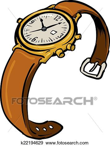 Wristwatch Clip Art.