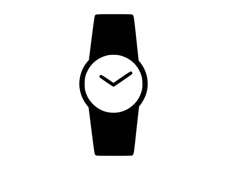 Watch Svg, Wrist Watch Svg, Time Svg, Watch Clipart, Silhouette Svg Clip  Art, Cut File Cutting File Png Laser Engraving dxf Cnc.