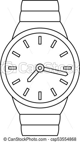Wrist watch icon, outline style..