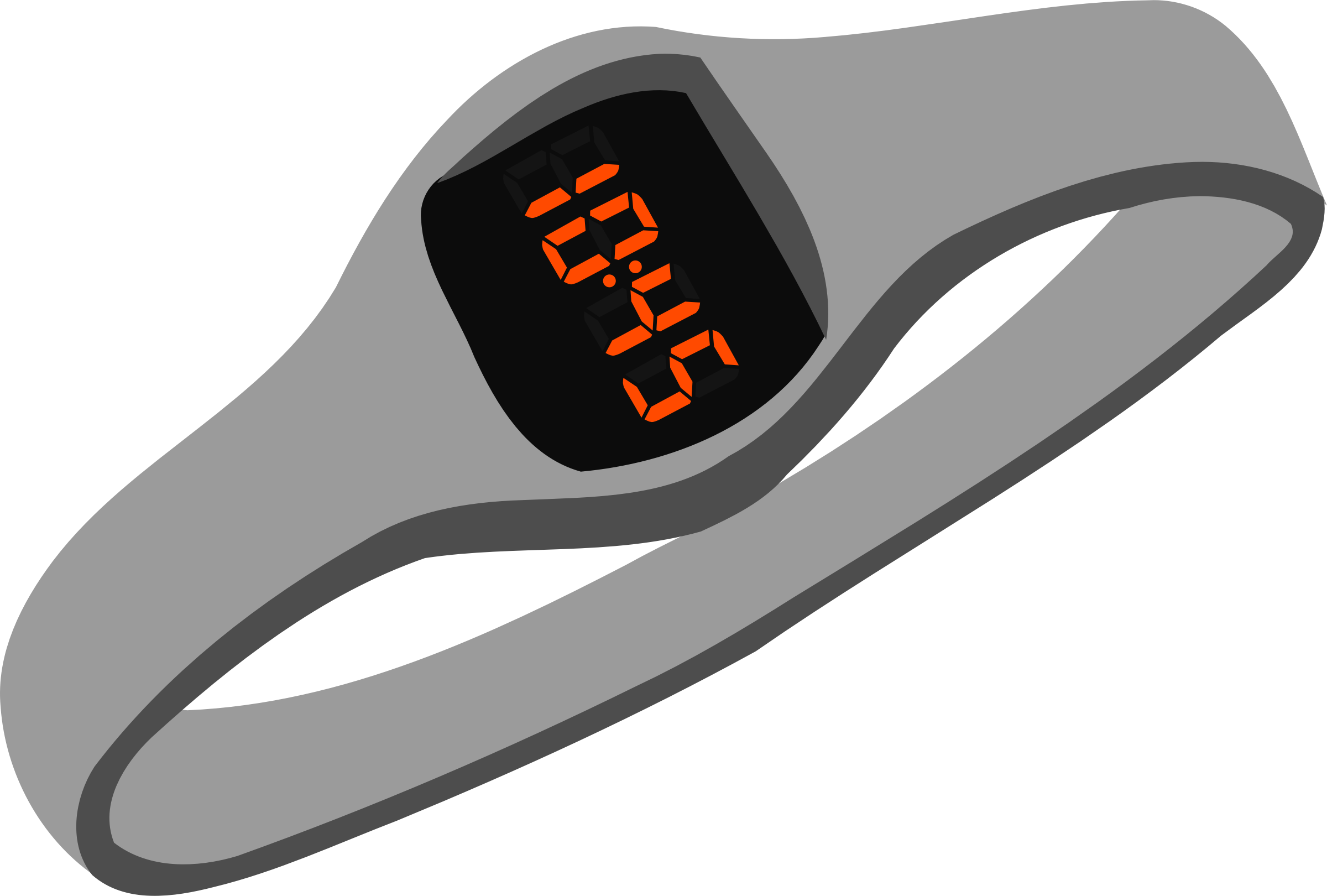 Digital Wristwatch Vector Clipart image.
