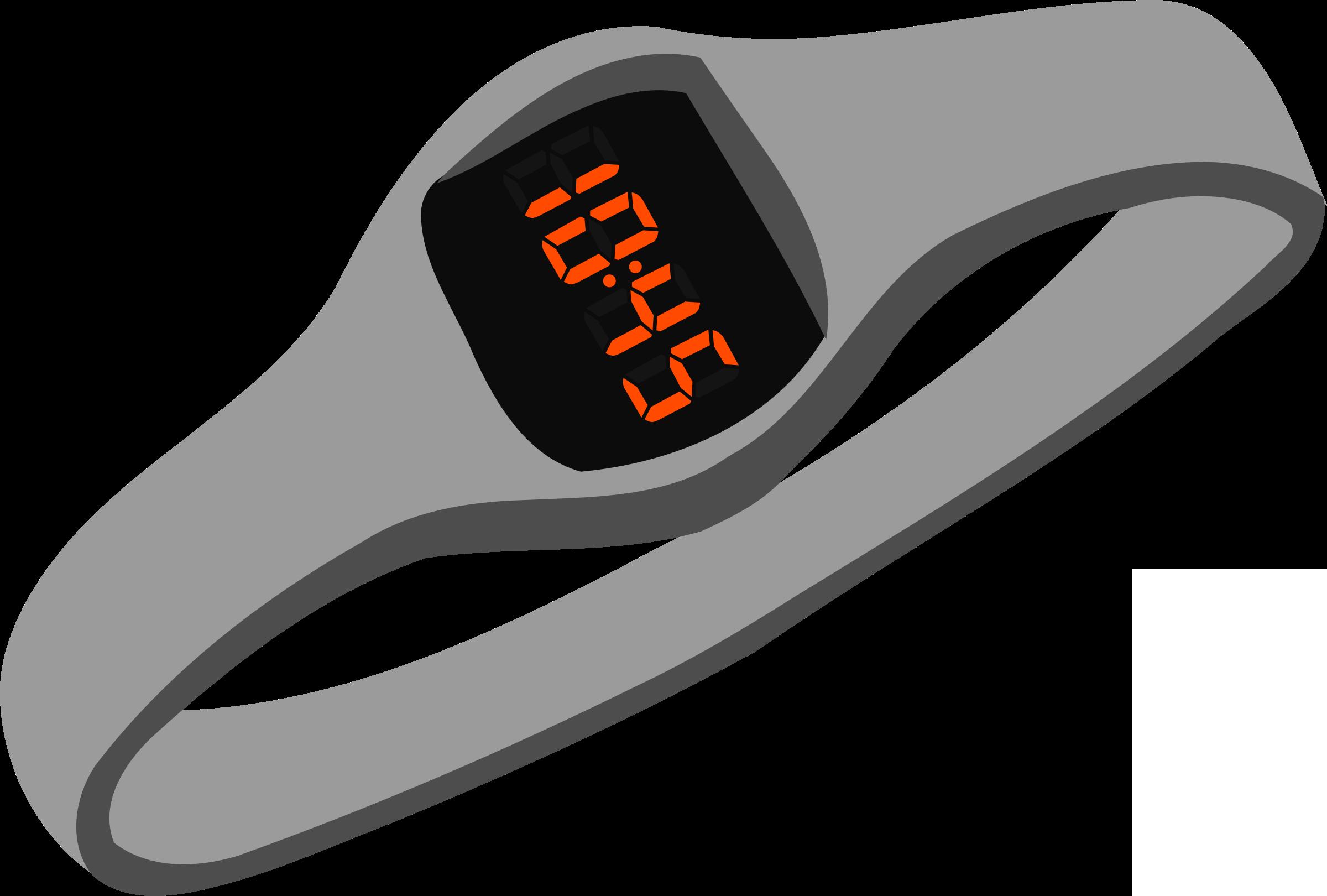 Digital Wristwatch Vector Clipart image.