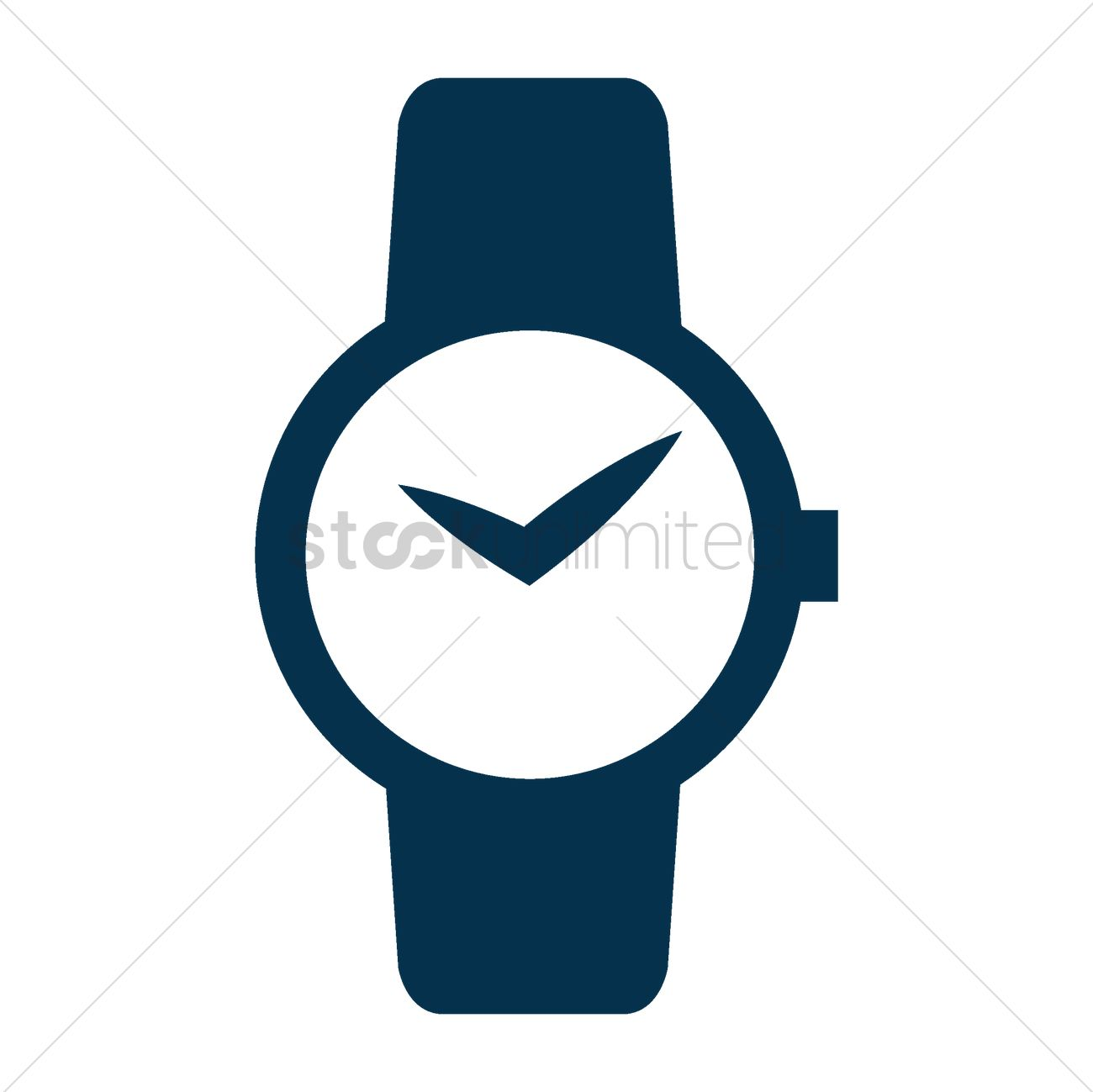Wrist watch Vector Image.