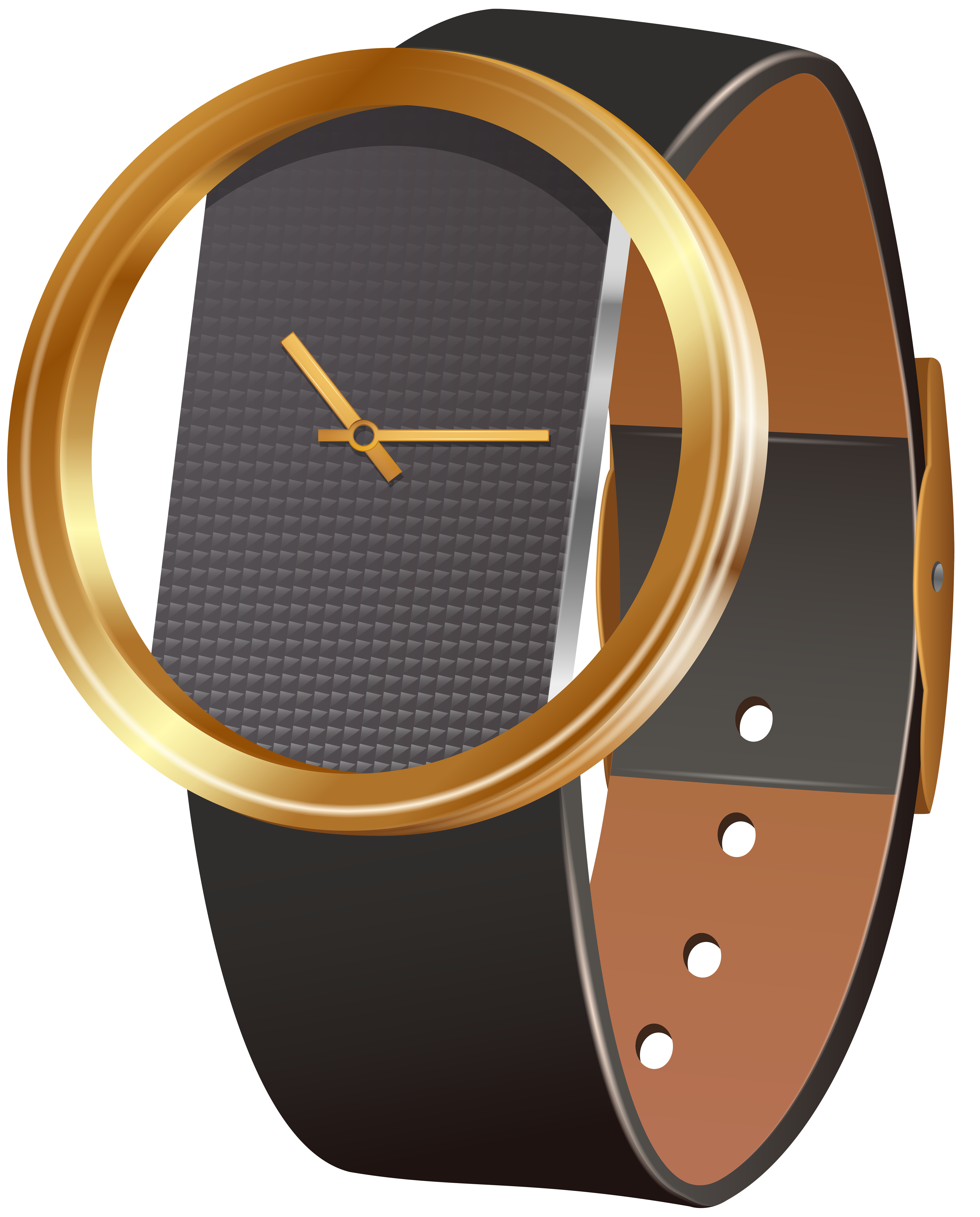Wrist Watch Black PNG Clip Art.