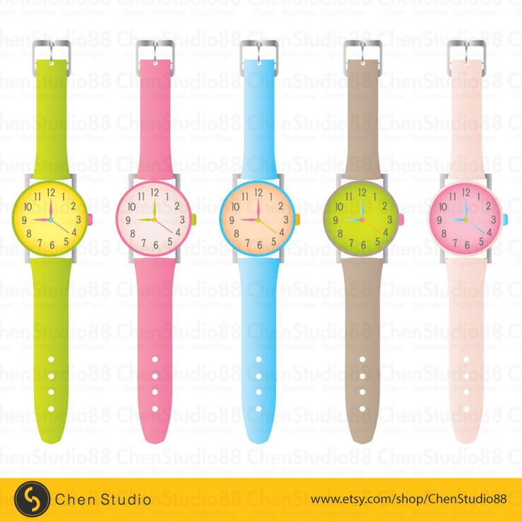 Wrist watch vector.