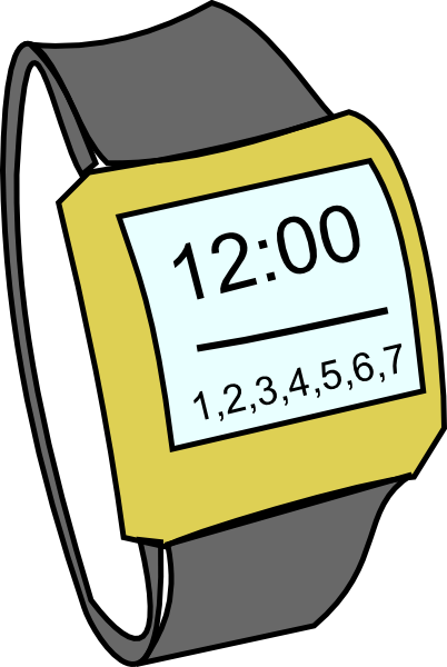 Digital wrist watch clipart.