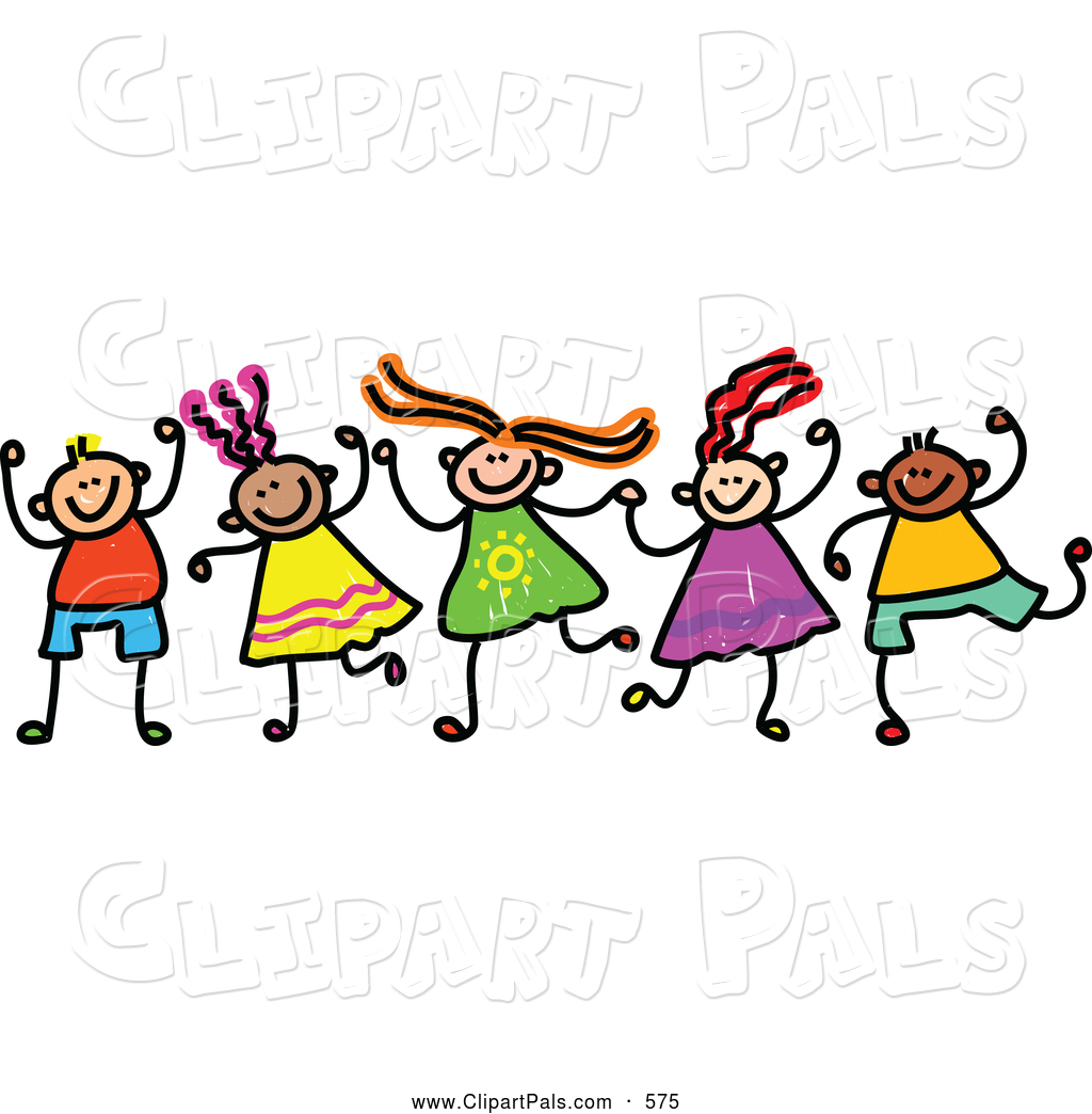 Friends Holding Wrists Clipart.