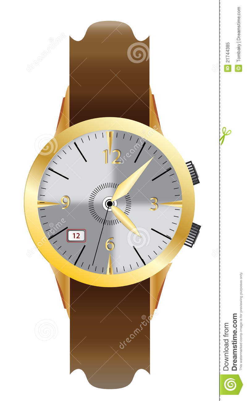Wrist watch for men clipart.