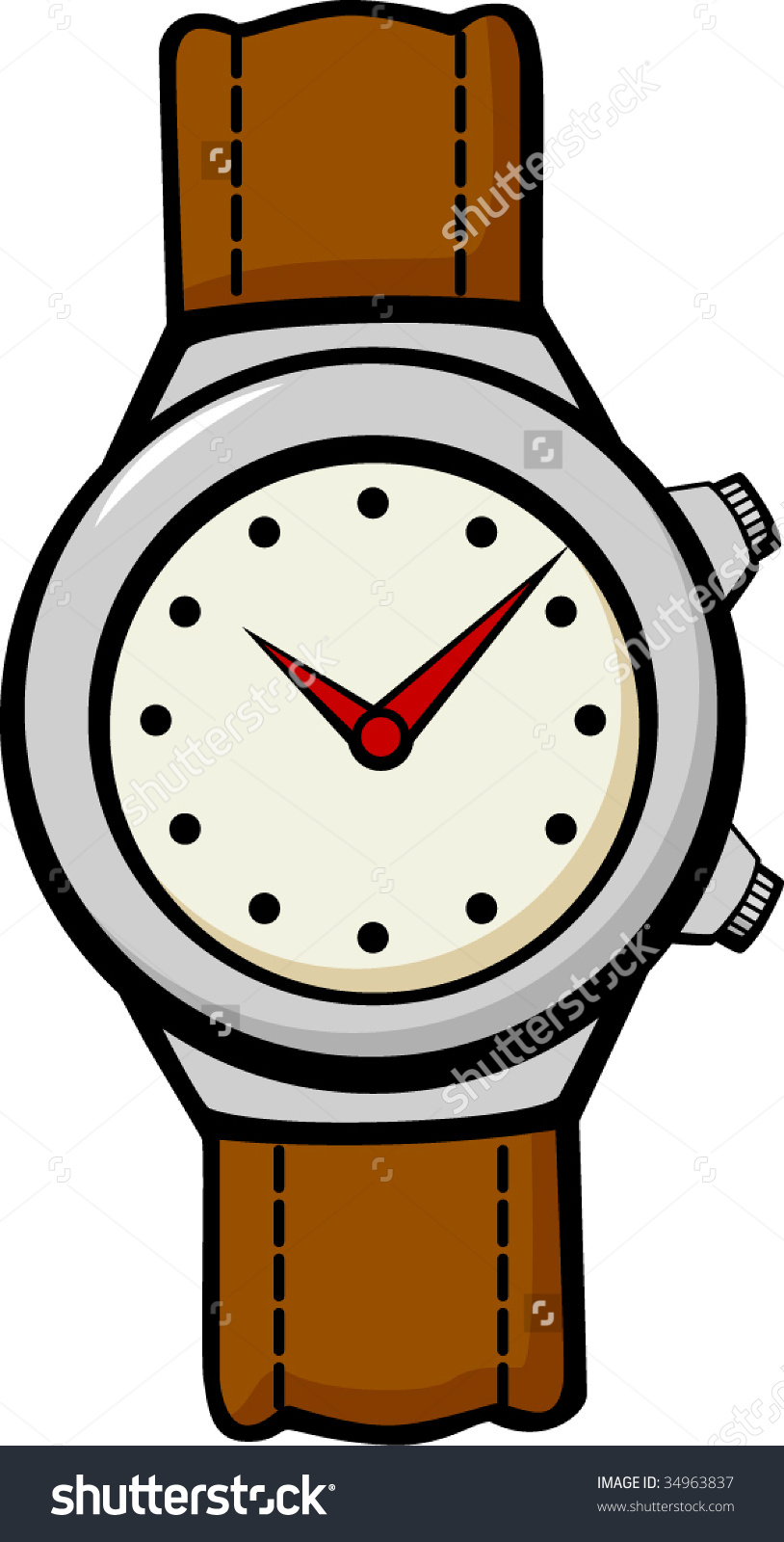 Kids wrist watch clipart.