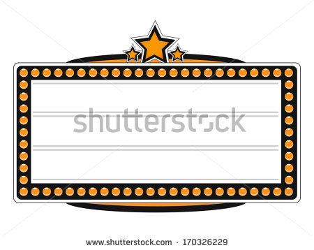 Theater Marquee Stock Images, Royalty.