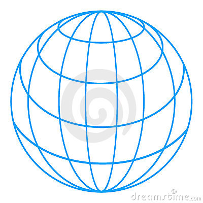 Writable Wire Globe Clipart.