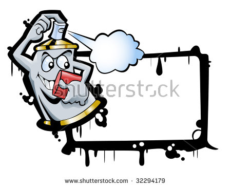 Spray Can Smiling Face Paints Writable Stock Vector 32225413.