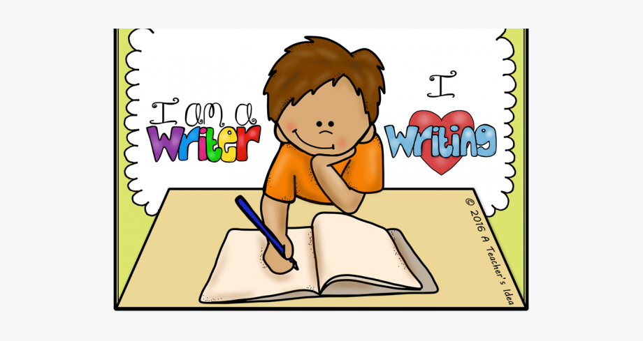 Stories Clipart Kid Writing.