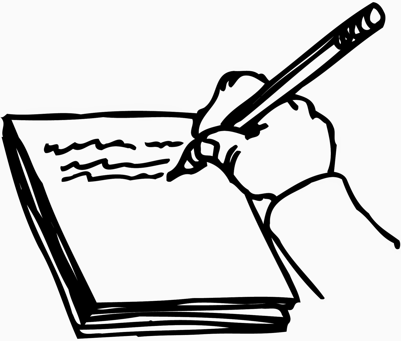 Clipart Writing Book.