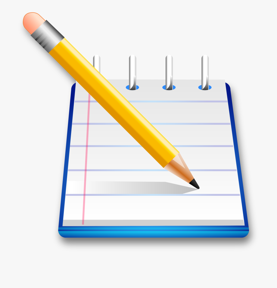 Clipart Writing Notepad Pencil.