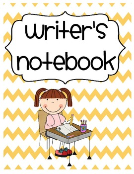 Writers Notebook Cover & Worksheets.