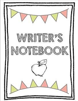 Writer's Notebook Inserts.