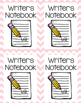 Writers Notebook Labels.