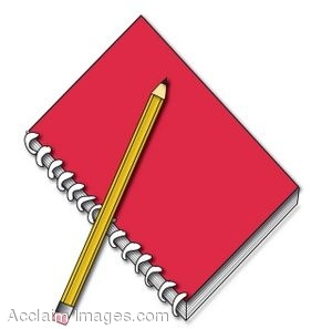 Writing Notebook Clipart#2000091.