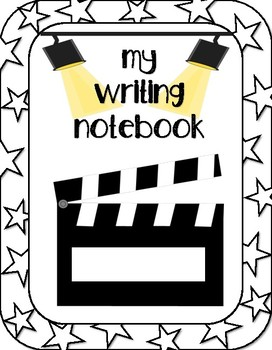 Movie Themed Writing Notebook Cover.