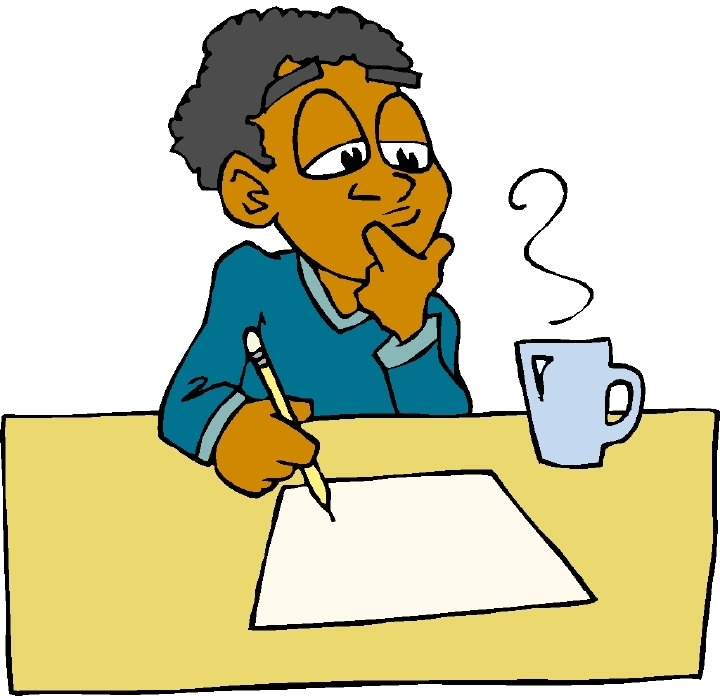 Writing And Thinking Clipart.