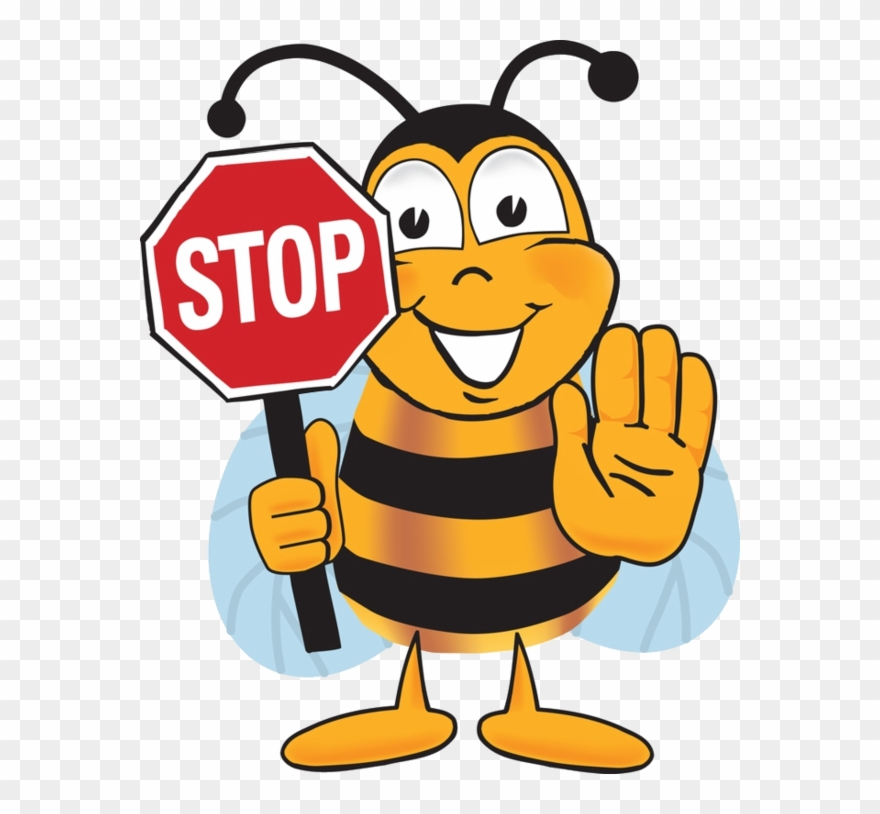 Bee Clipart Writing.