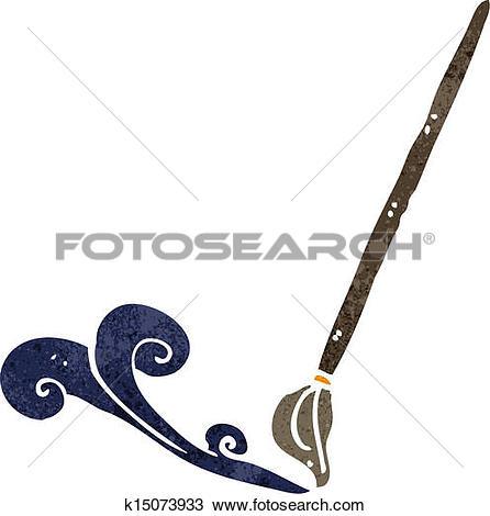 Clipart of cartoon calligraphy brush k15528774.