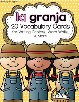 La granja: A Writing Center and Word Wall Set in Spanish.