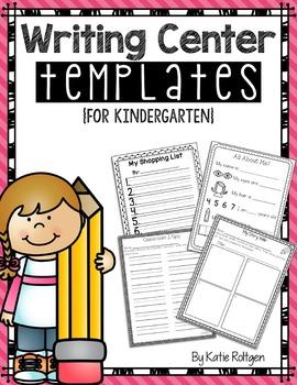 Writing Center Activities for Kindergarten.