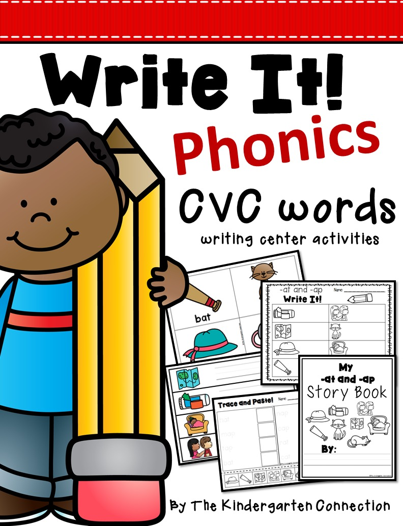 CVC Words Writing Centers.