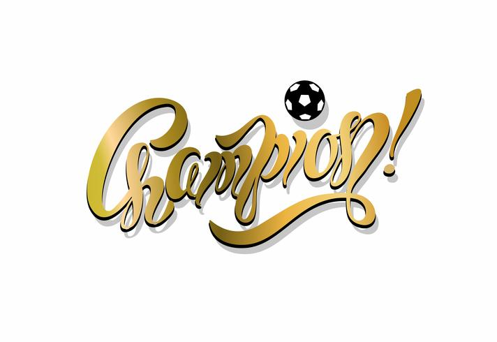 Champion. lettering. football. Inspirational writing.