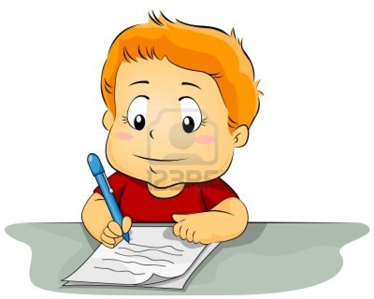Displaying 18> Images For Children Writing clipart free image.