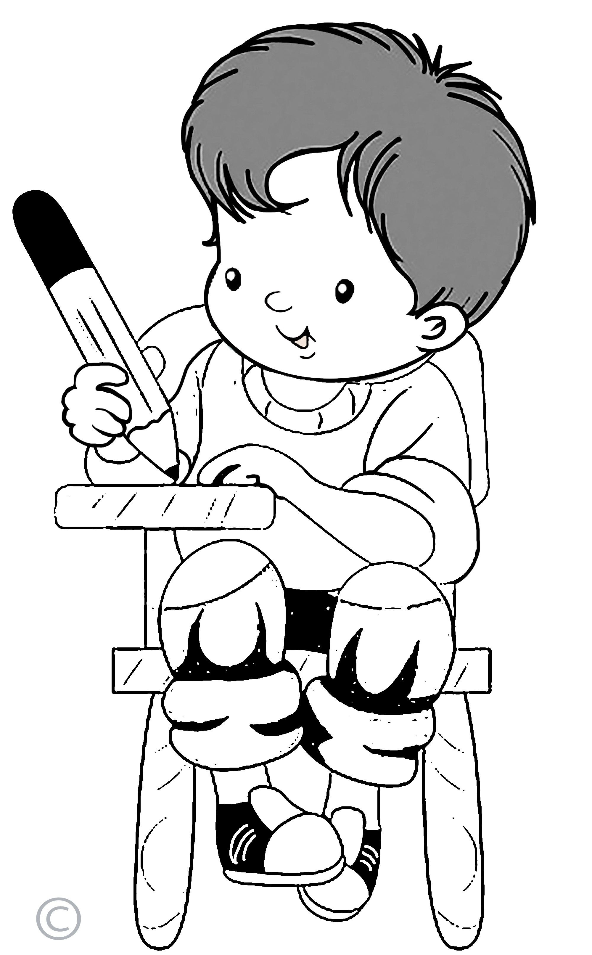 28+ Collection Of Kids Writing Clipart Black And White.