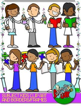 School Subjects Kids Clip art and Borders.