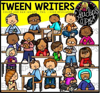 Tween Writers Clip Art Bundle {Educlips Clipart}.