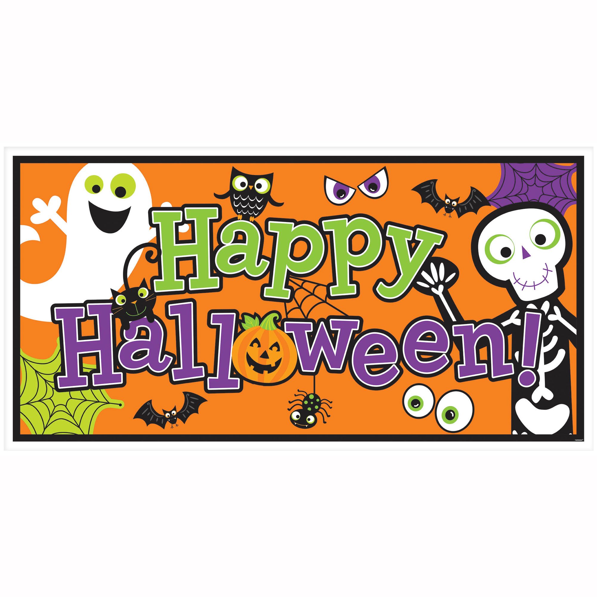 Halloween Family Friendly Large Horizontal Banner 65in.