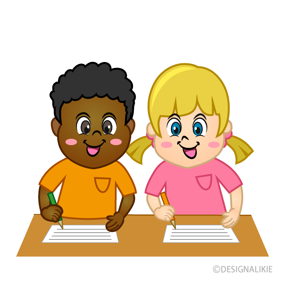 Free Kids Writing Clipart Image|Illustoon.