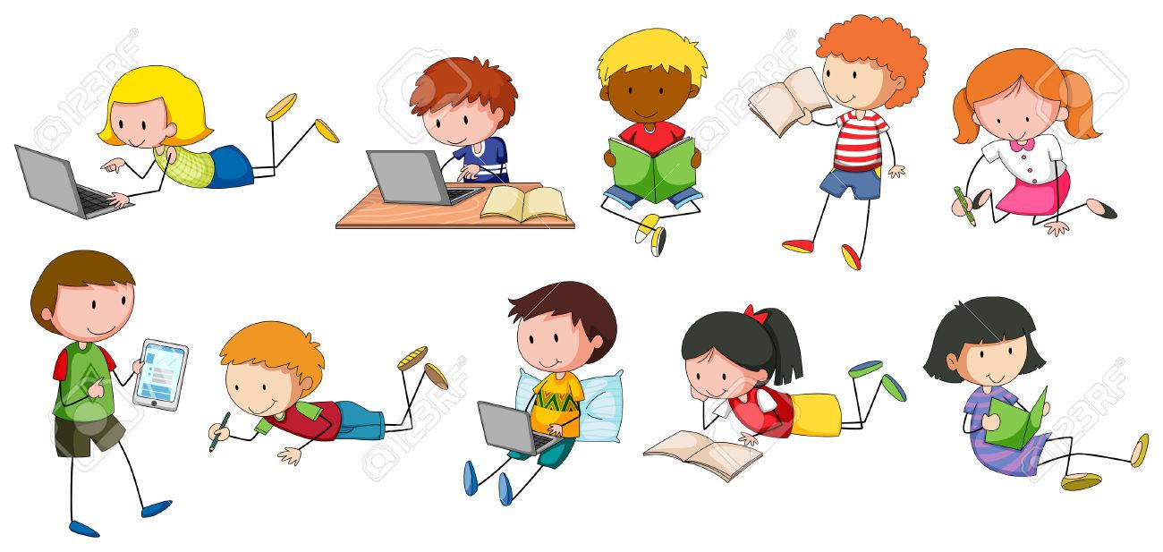 Kinder schreiben clipart 1 » Clipart Station.