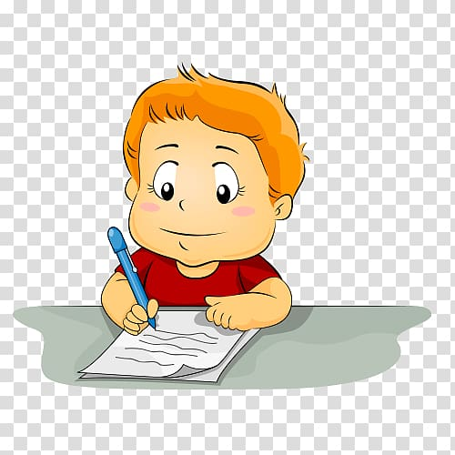 Writing Child , child transparent background PNG clipart.