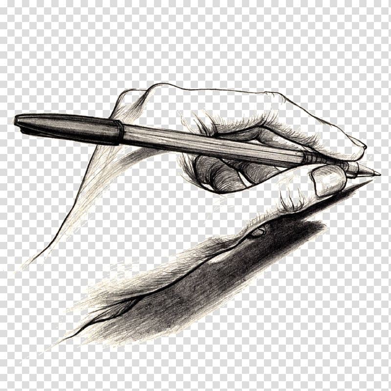 Person holding pen sketch, The Writer\\\'s Journey: Mythic.
