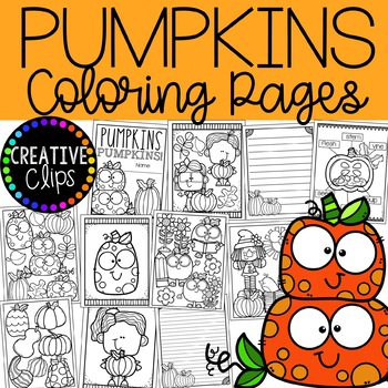 Pumpkin Coloring Pages (+ writing papers) {Fall Coloring.