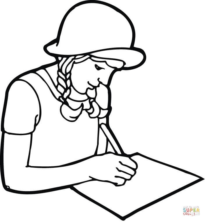 Page With Writing Clipart.