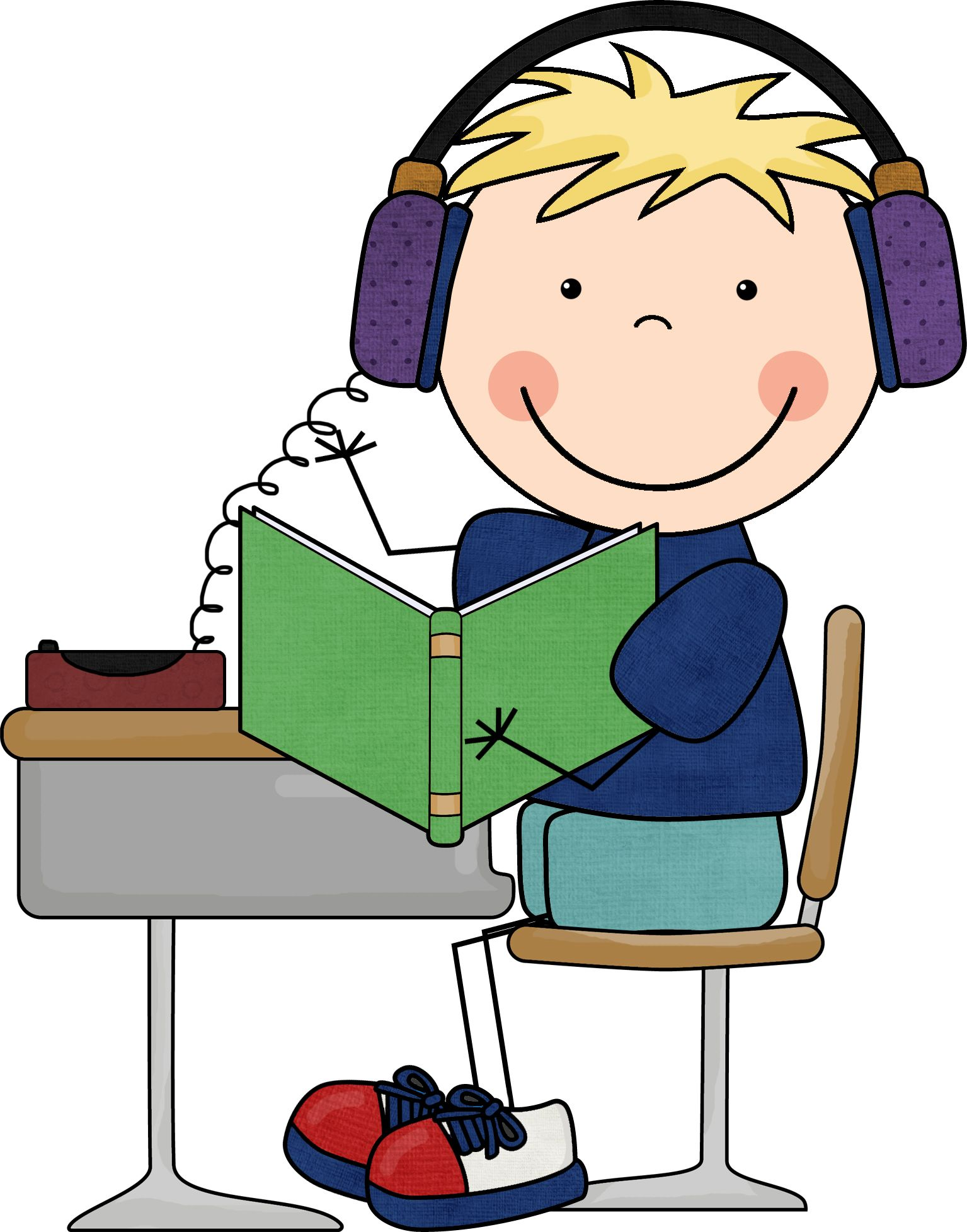 28+ Collection of Listening To Reading On Computer Clipart.