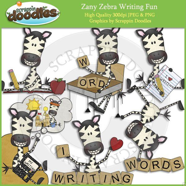 Zany Zebra Writing Fun.