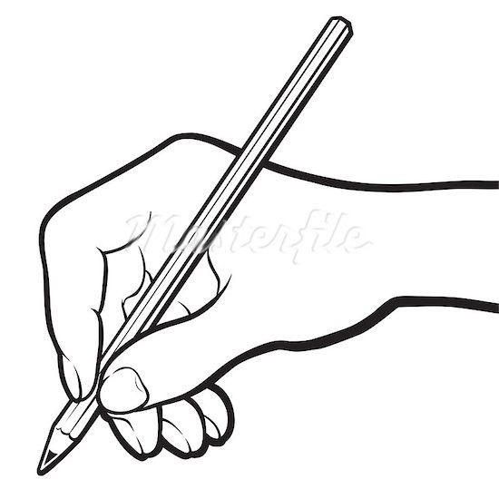 Best Of Writing Hand Clipart Black And White.