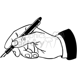 office business hand writing 088 clipart. Royalty.