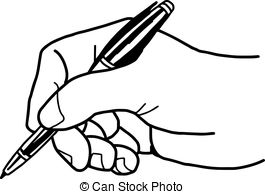 writing hand clipart black and white clipground