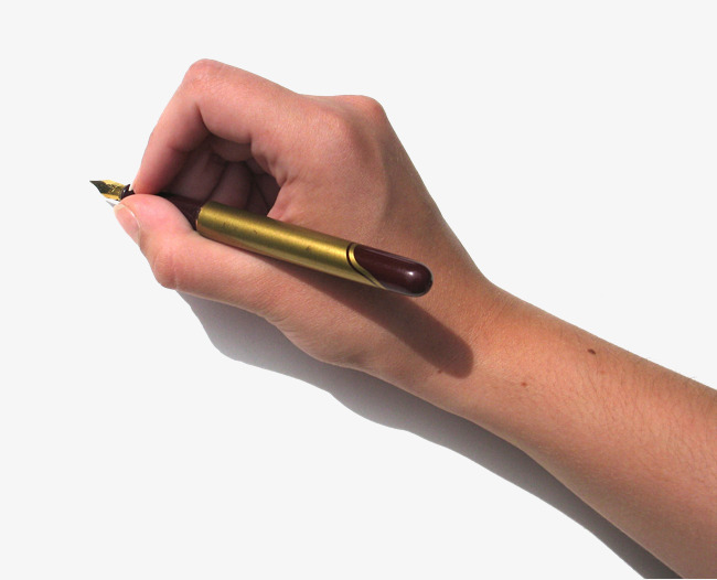 Pen In Hand PNG Images.
