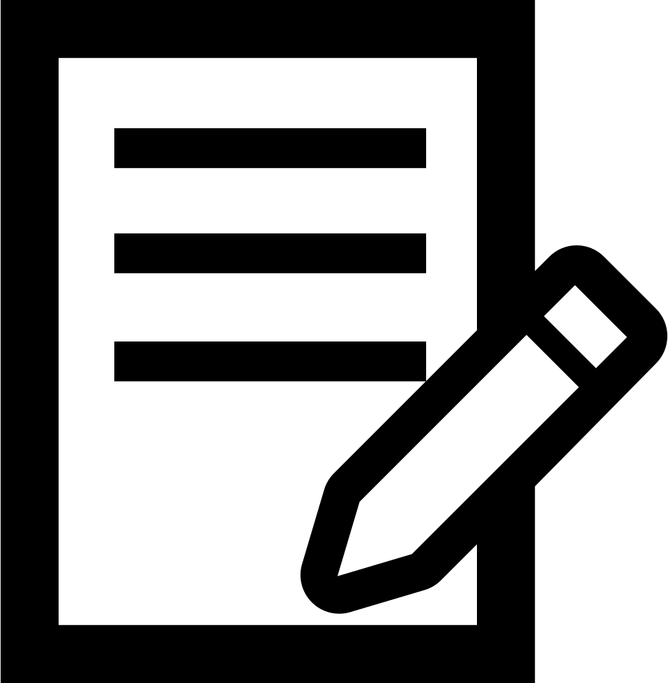 Pencil Writing On A Paper Svg Png Icon Free Download (#56480.